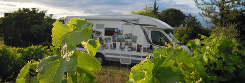 Accueil camping-cars sur la propriété